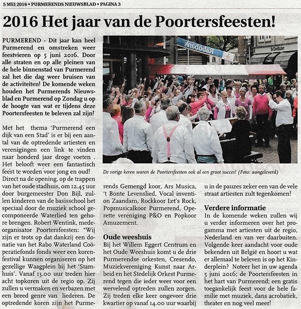 Purmerends Nieuwsblad 20160505
